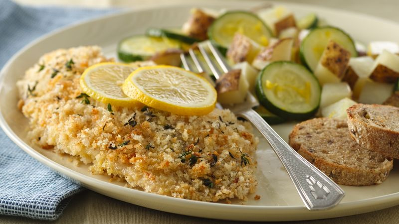Herb crusted tilapia with lemon potatoes recipe for Fish seasoning for tilapia