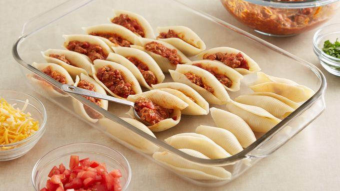 Taco-Stuffed Pasta Shells Recipe - Pillsbury.com