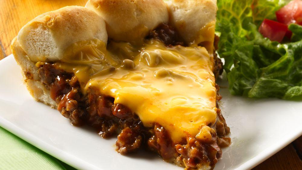 Cheeseburger Biscuit Pie