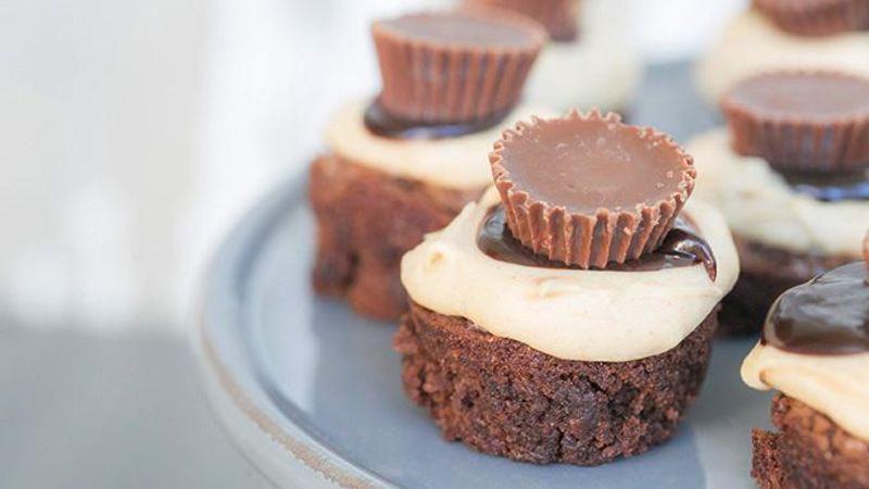 Mini Peanut Butter Cheesecake Brownies