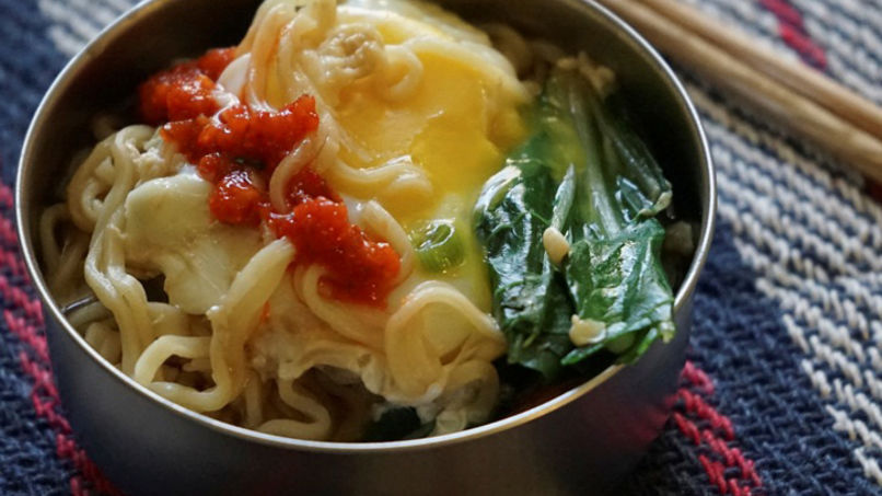Sopa de Ramen con Bok Choy y Huevo