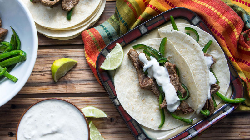 Steak Fajitas on the Fly