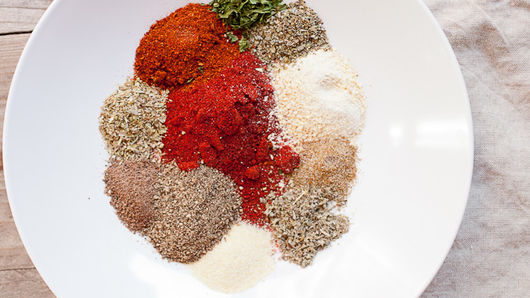 Mixed spices on plate