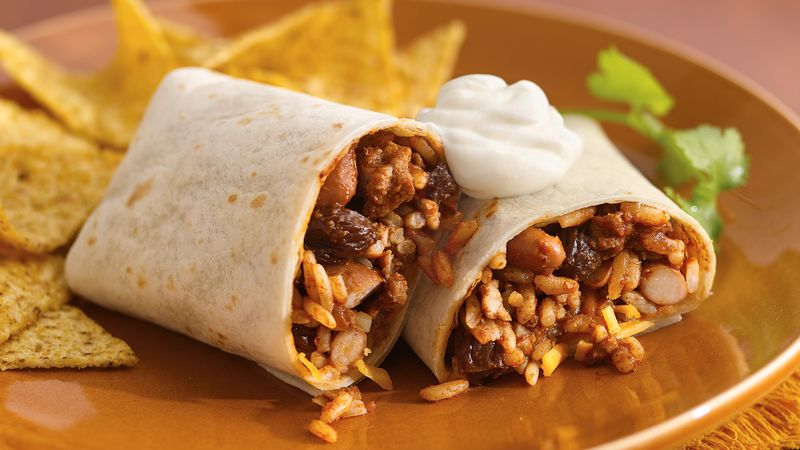 Spicy Mole Pork Burritos