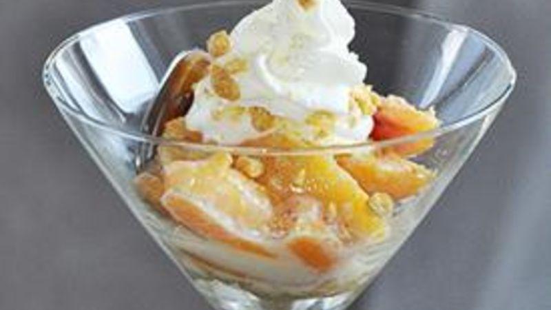 Skinny Dulce de Leche Peaches