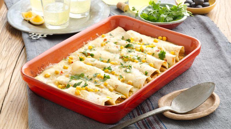 Chicken and Corn Enchiladas