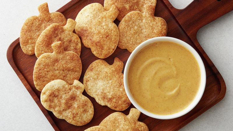 Pumpkin Cheesecake Dip With Pie Crust Dippers Recipe Pillsbury Com