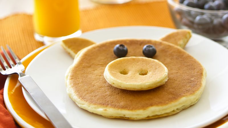 piggy pancakes recipe bettycrocker com