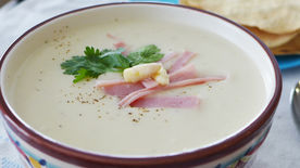 White Asparagus and Ham Soup