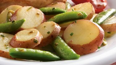 Brown Butter Snap Peas and New Potatoes