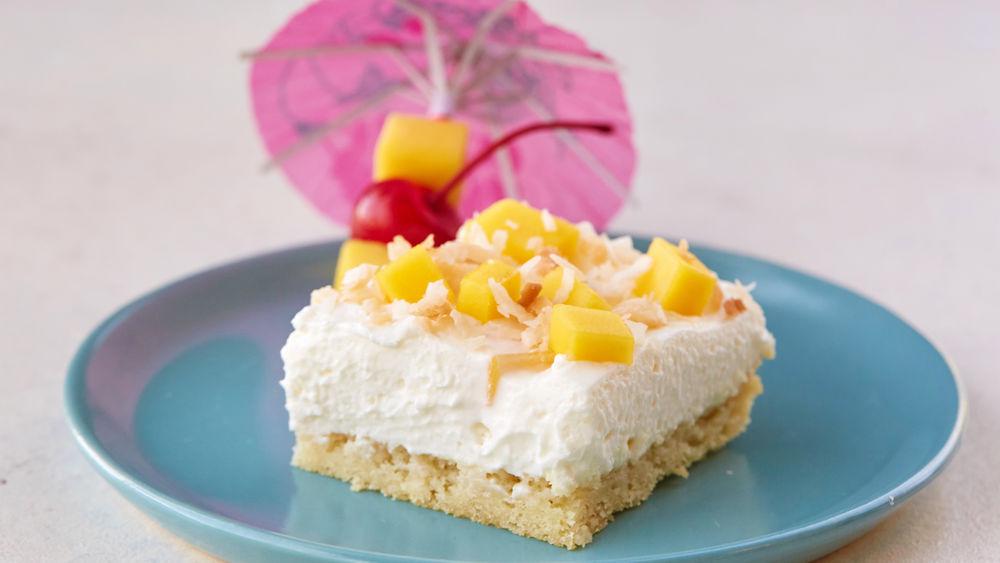 Creamy Piña Colada Dessert Bars