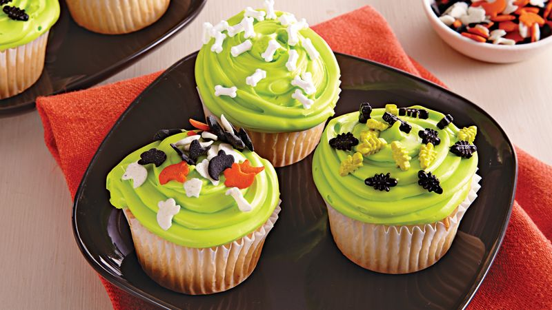 Green Slime Cupcakes