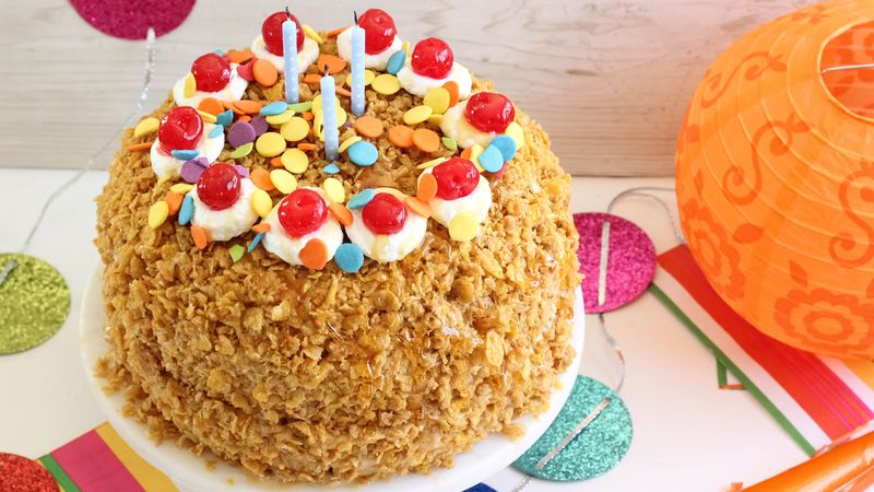 Dulce de Leche Fried Ice Cream Cake