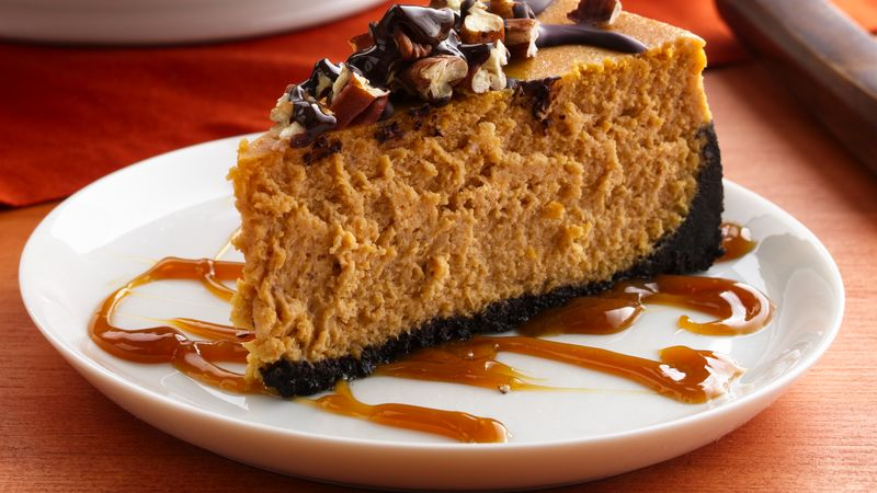 Turtle Pumpkin Cheesecake Recipe Bettycrocker Com