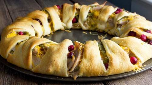 Thanksgiving Dinner Crescent Ring