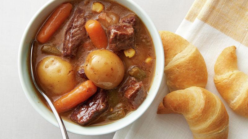 Dump It Slow Cooker Beef Stew Recipe Pillsbury Com