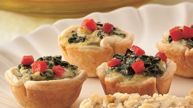 Cheesy Spinach Tartlets