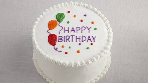 Happy Birthday Balloon Cake Recipe