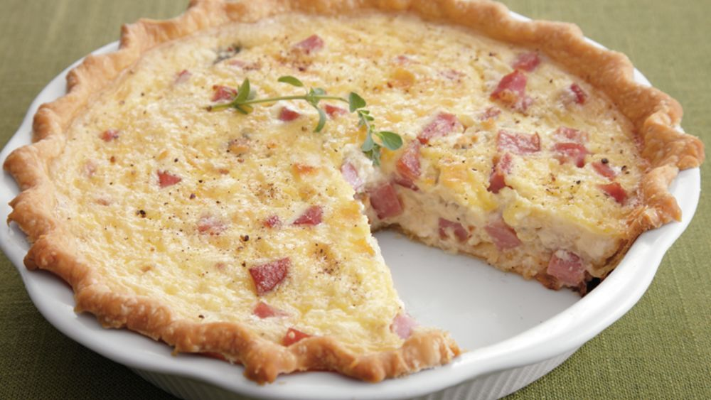 Ham and Blue Cheese Quiche