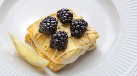 Lemon Ricotta Napoleon with Blackberries