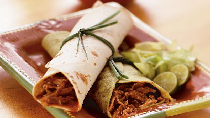 Southwestern Pork Burritos