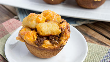 Mini Beef and Tater Tot Casseroles
