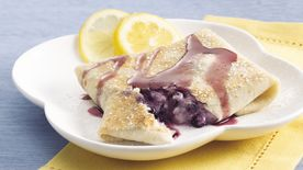 Blueberry Burrito Blintzes