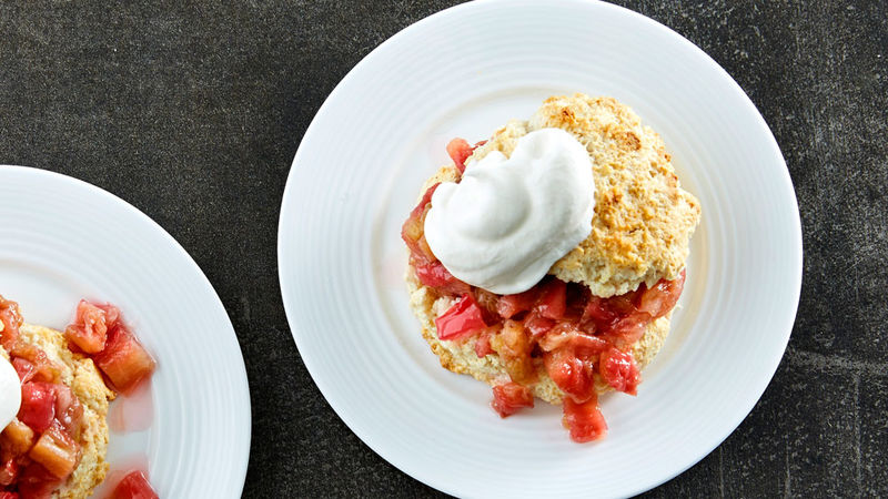 Roasted Rhubarb Shortcake