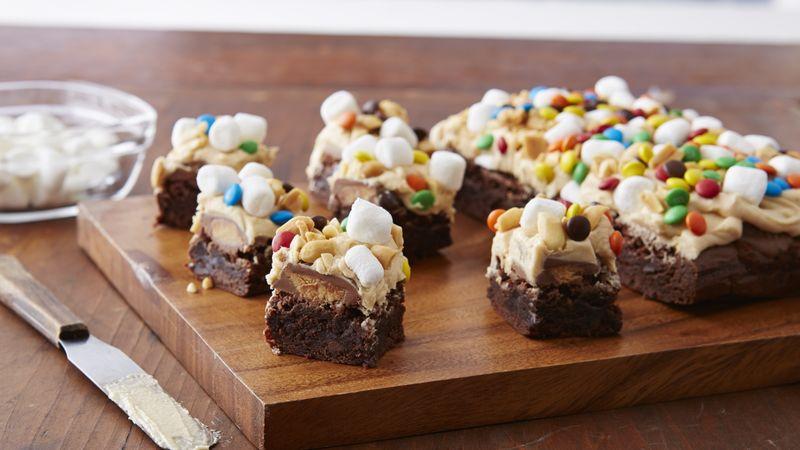 Triple Chocolate Chunk Peanut Butter Brownies