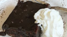 The Devil Came Down To Georgia with Hot Fudge Brownie Dessert