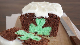 Shamrock Reveal Mint-Chocolate Pound Cake