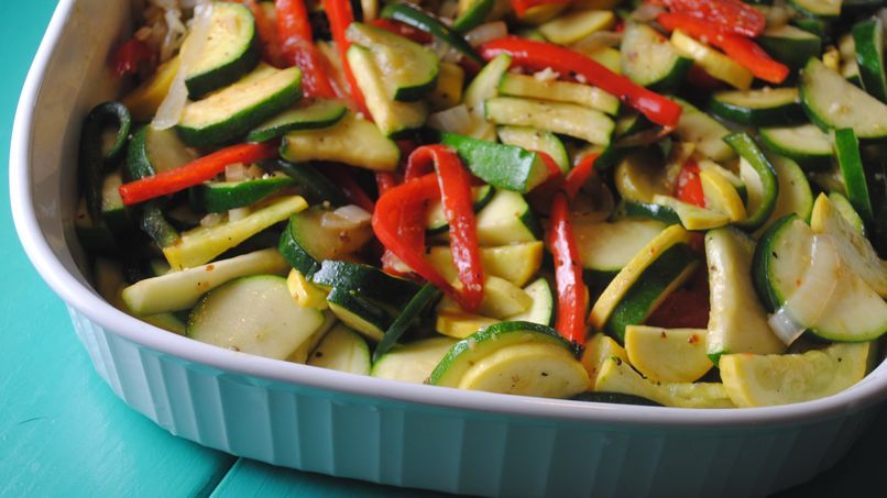 Sautéed Zucchini with Peppers