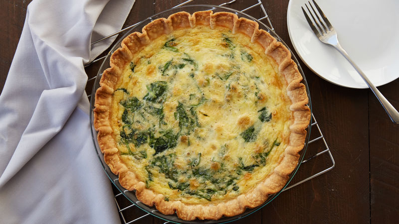 Spinach Artichoke Quiche Recipe Pillsbury Com