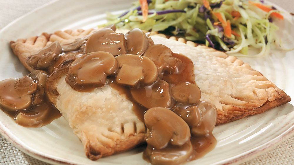 Hot Beef and Mushroom Turnovers