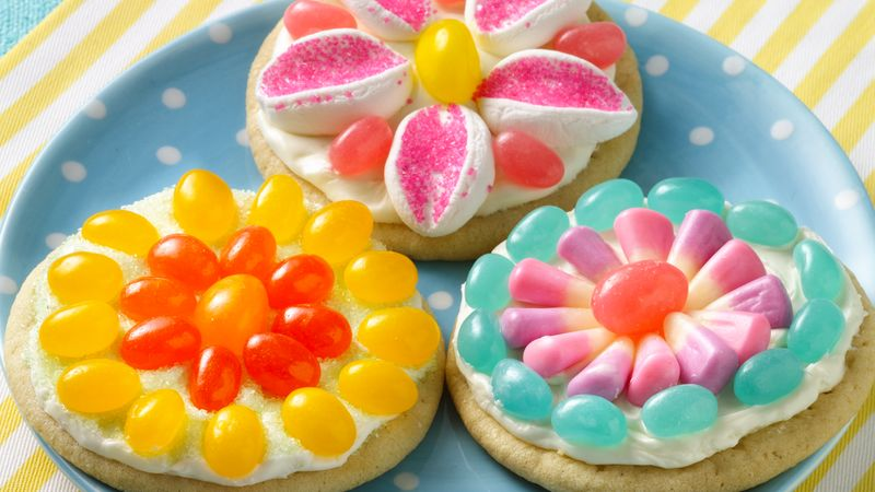 Jelly Bean Flower Cookies