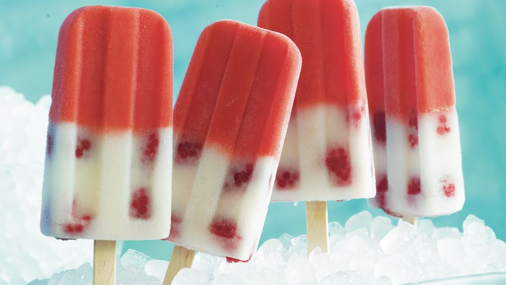 Raspberry Lemonade Pops