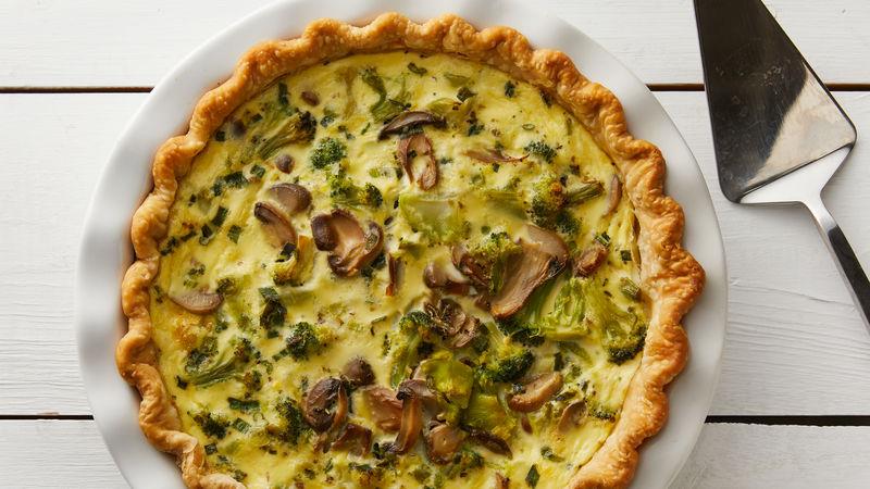 Broccoli-Mushroom Quiche