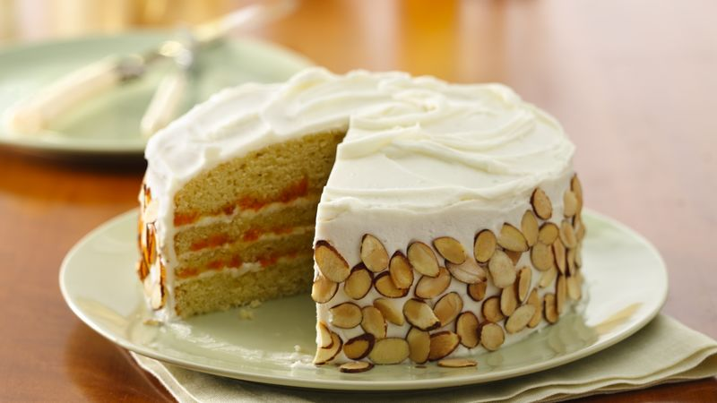 Heavenly Almond-Apricot Layer Cake