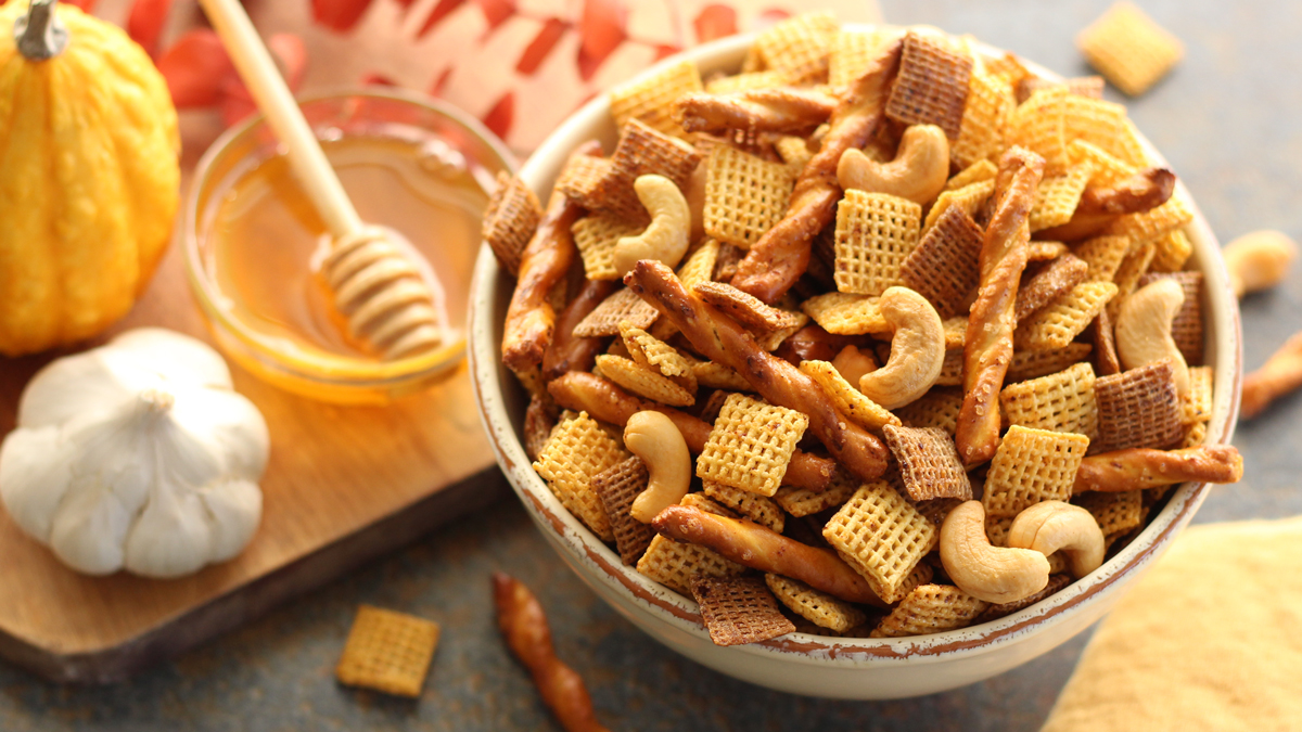 Honey-Garlic Chex™ Party Mix