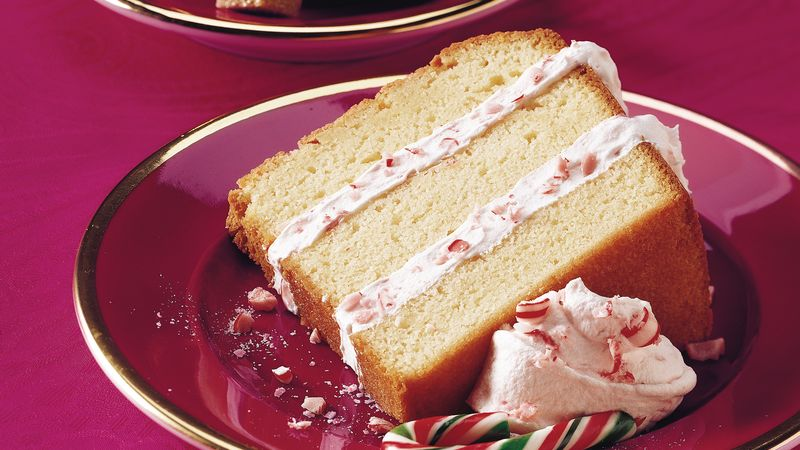 Layered Peppermint Pound Cake