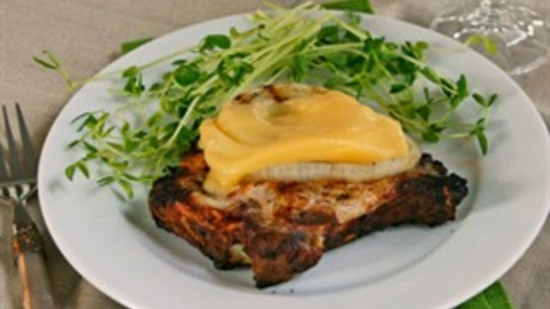 Marinated Grilled Smothered Pork Chops