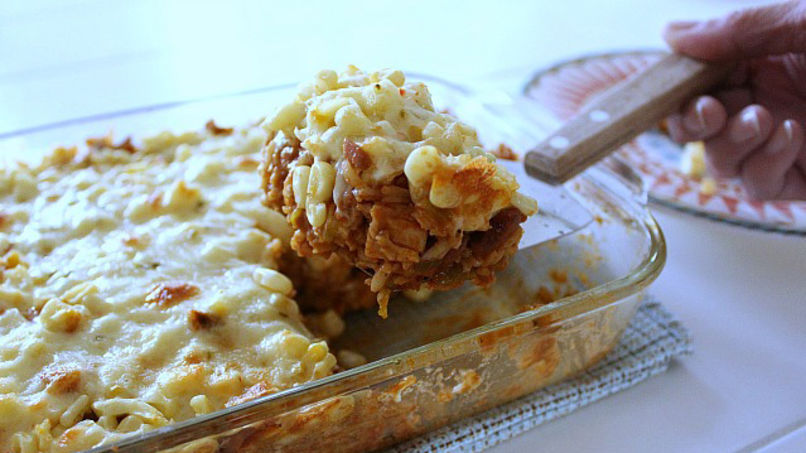 Chicken and Rice Enchilada Casserole