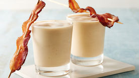 Banana-Peanut Butter-Bacon Smoothies