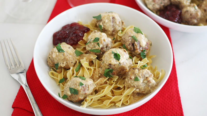 Freezer Friendly Swedish Meatballs Recipe Bettycrocker Com