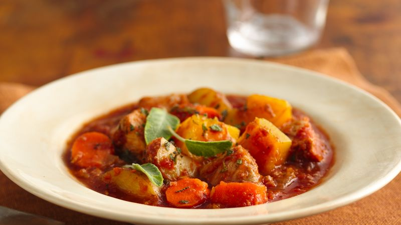 Winter Squash and Pork Stew