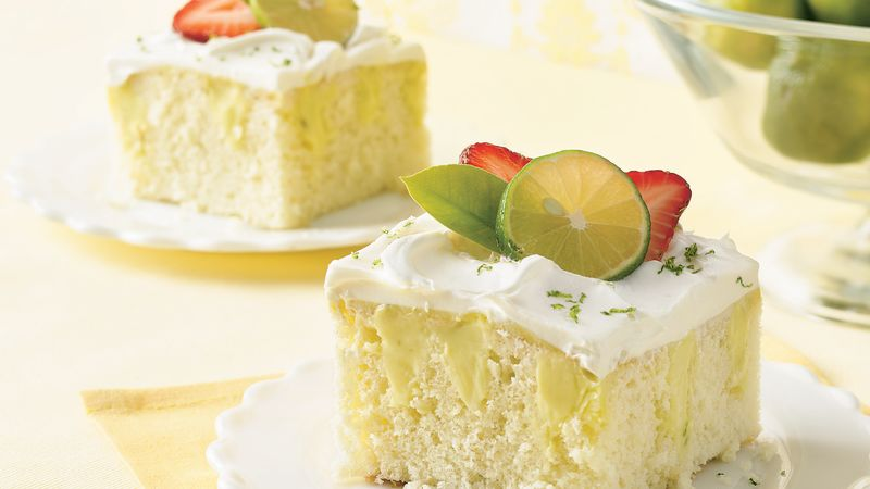 Key Lime Pie Poke Cake