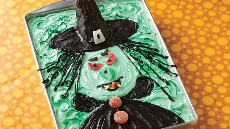 Fantastic Scary Witch Cake Recipe Bettycrocker Com Funny Birthday Cards Online Inifofree Goldxyz