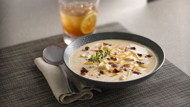 Pan-Roasted Cauliflower Soup