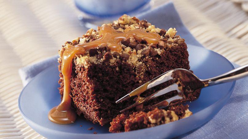 Pastel con Nueces y Chispas de Chocolate