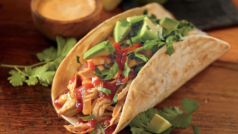 Chipotle Chicken Soft Tacos